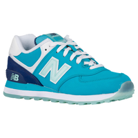 New Balance 574 - Women's - Aqua / Navy