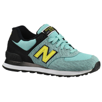 New Balance 574 - Women's - Aqua / Black