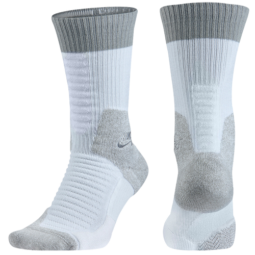 Nike SB Elite SB Skate Crew 2.0 Socks - Men's - White / Grey