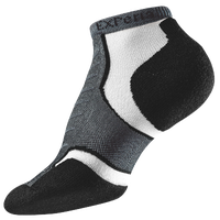 Thorlo Experia Jet Micro Mini Padded Run Socks - Grey / Black