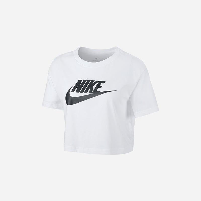 Shop the Women's Nike Essential Crop Icon Futura T-Shirt
