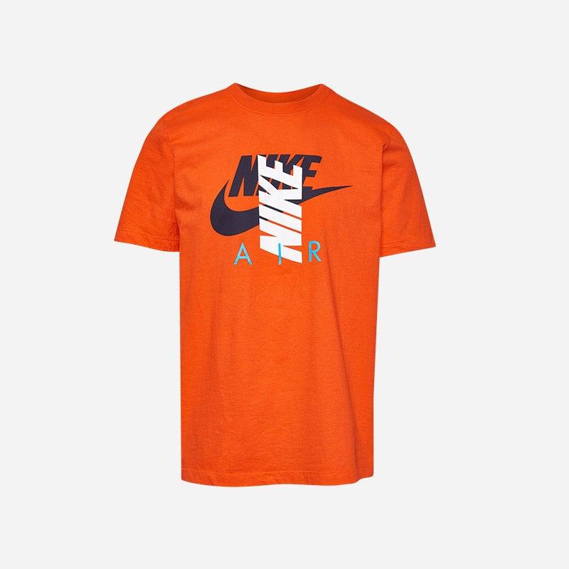 Shop the Men's Nike City Brights Air T-shirt in Team Orange/Navy/White.