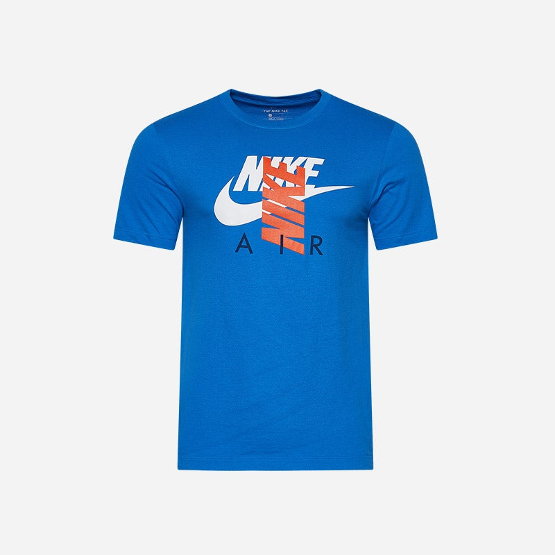 Shop the Men's Nike Graphic T-shirt in blue/orange.