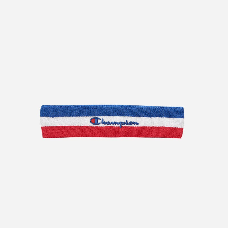 Shop the Men's Champion Headband in blue/white/red.