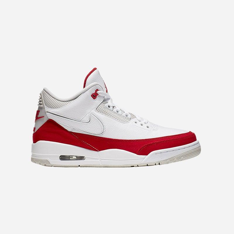 Shop the Men's Jordan Retro 3 in White/University Red/Neutral Grey.