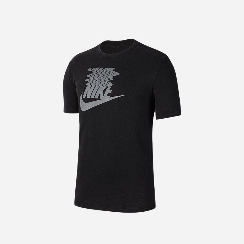 Shop the Men's Nike Vibes Swoosh T-Shirt in black.