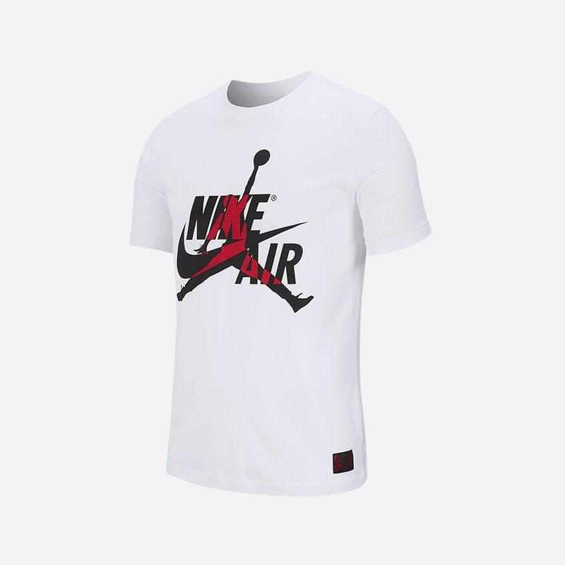 Shop the Men's Jordan Classics Crew T-Shirt in white/gym red.