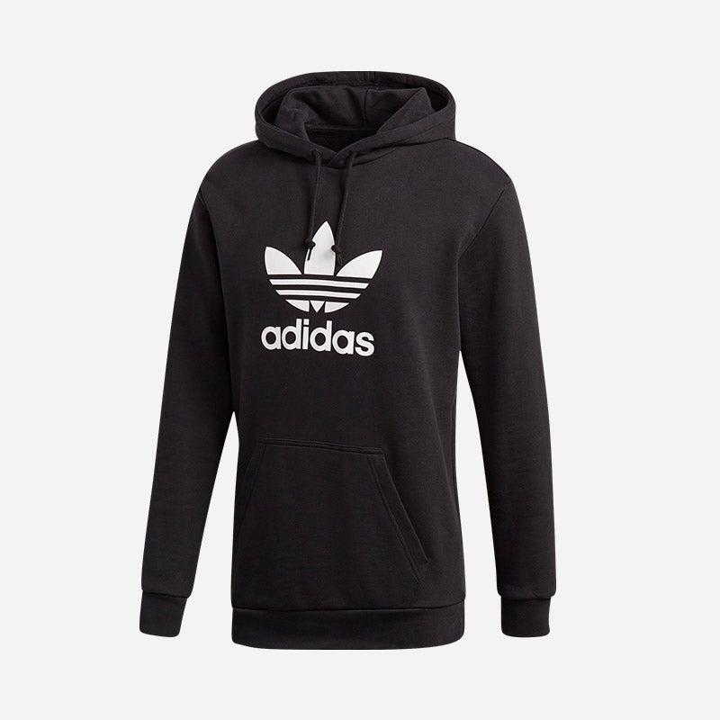 Shop the Men's adidas Originals Trefoil P/O Hoodie in black.