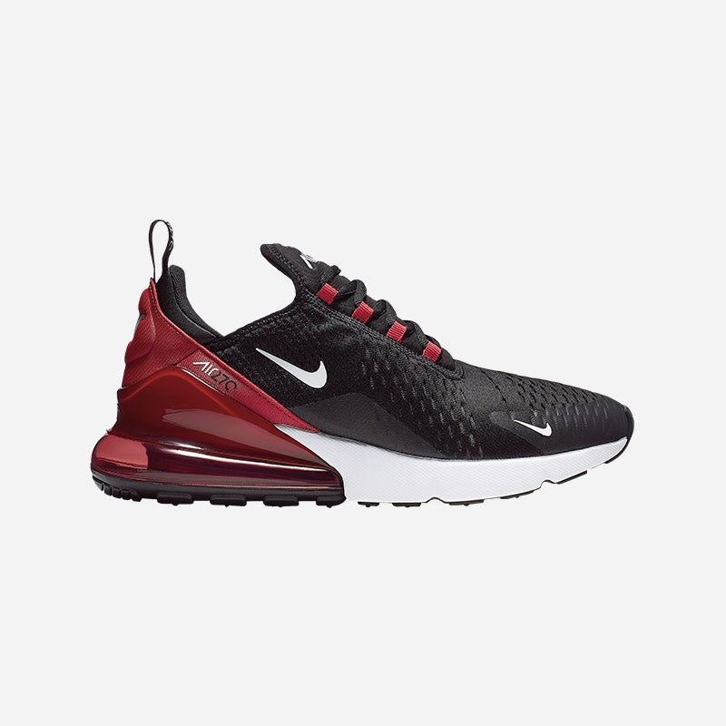 Shop the Men's Nike Air Max 270 in Black/White/University Red/Anthracite.