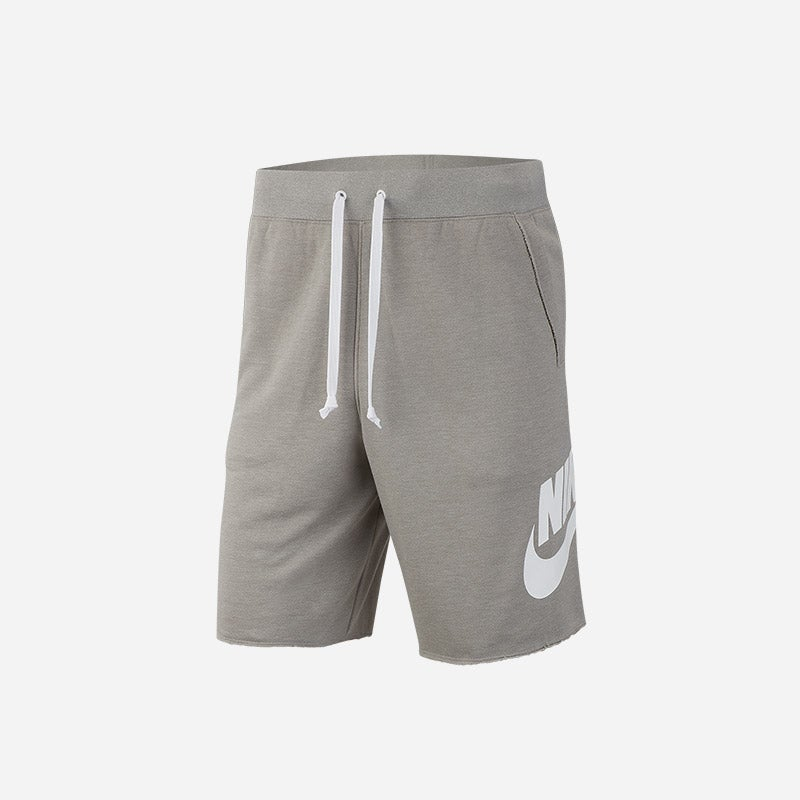 Shop the Men's Nike Alumni Shorts in grey/white.