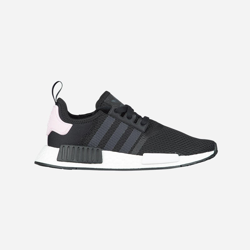 Shop the Women's adidas Originals NMD R1 in Black/White/Clear Pink.