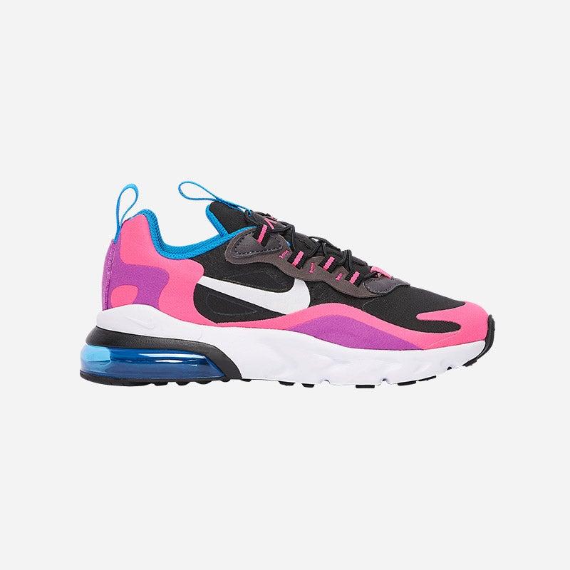 Shop the Girls' Nike Air Max 270 RT in Black/White/Hyper Pink/Vivid Purple.