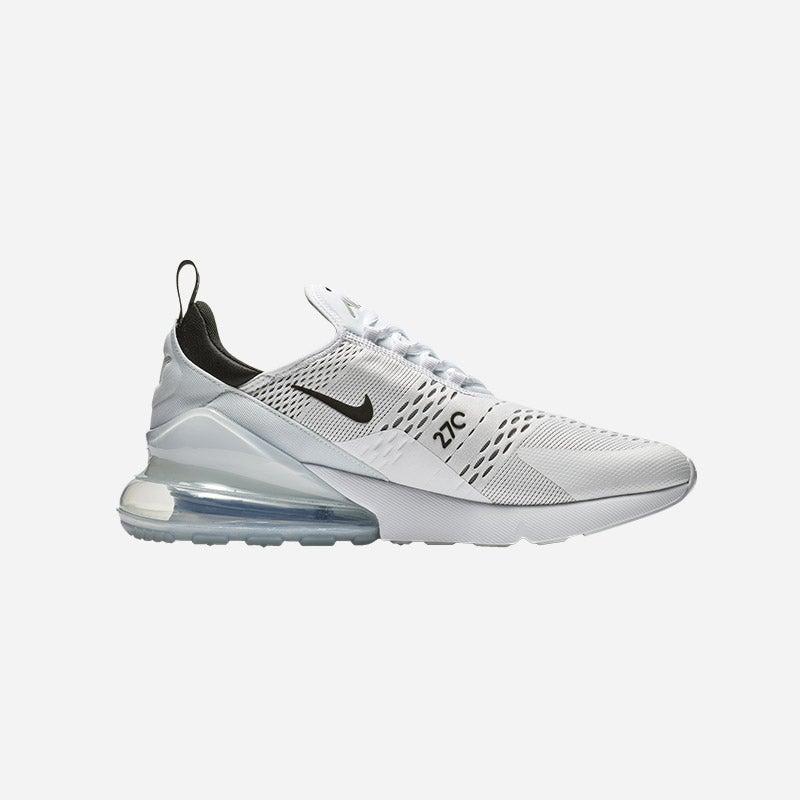 Shop the Men's Nike Air Max 270 in White/Black.