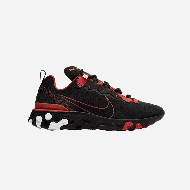 Shop the Men's Nike React Element 55 EOS in black/red/white.