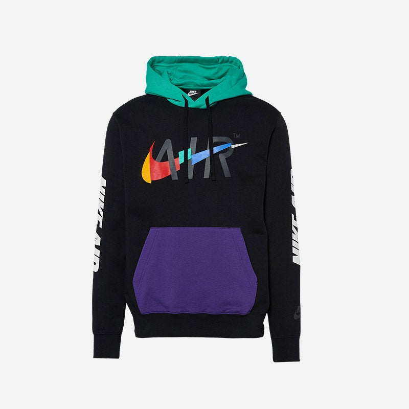 Shop the Men's Nike Game Changer Club Pullover Hoodie in black.