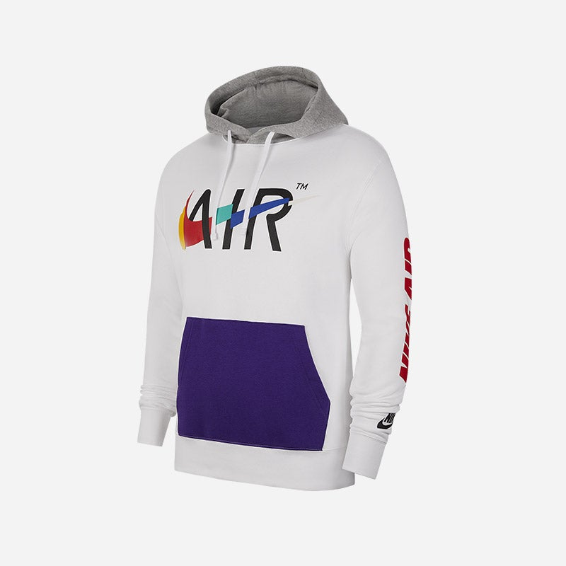 Shop the Men's Nike Game Changer Club Pullover Hoodie in white.