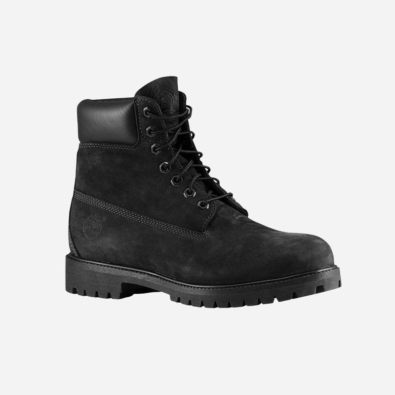"""Shop the Men's Timberland 6"""" Premium Waterproof Boots in jet black."""