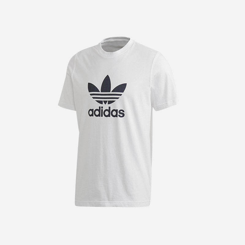 Shop the Men's adidas Originals Tartan Tongue T-Shirt in white/plaid.