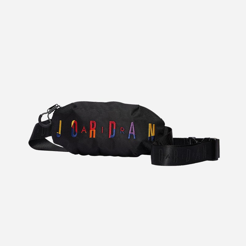 Shop the Men's Jordan Rivals Belt Bag in black/multi.