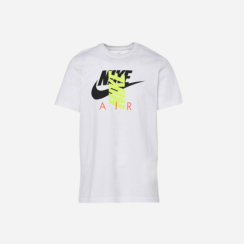 Shop the Men's Nike City Brights Air T-Shirt in white/volt.