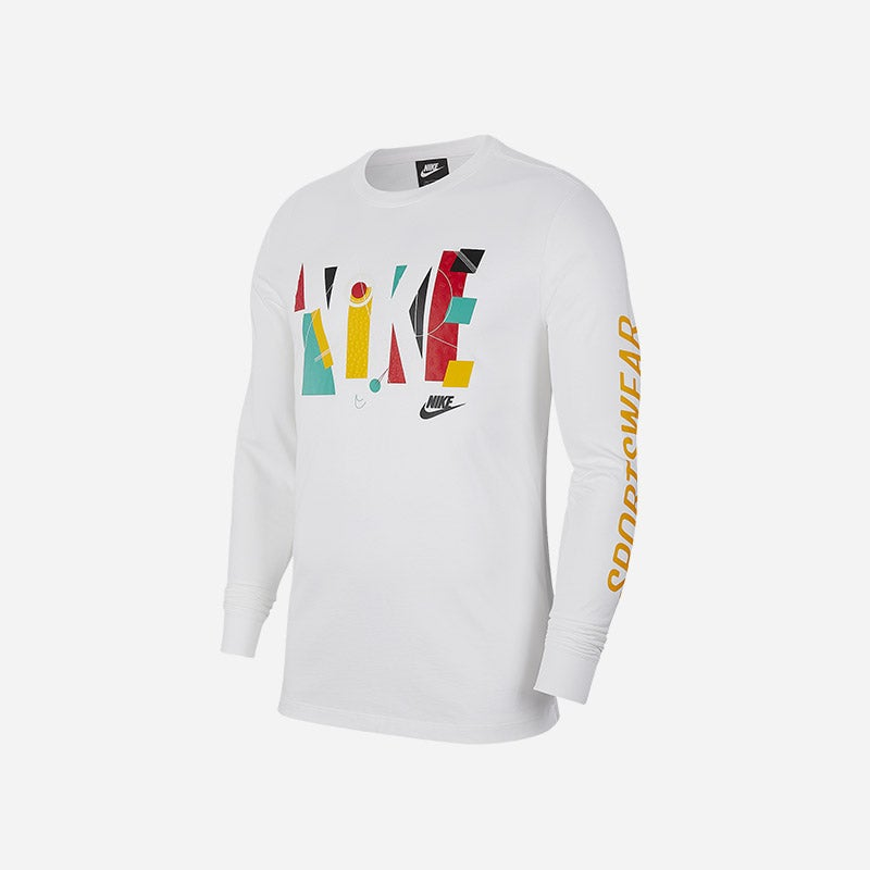Shop the Men's Nike Game Changer Long Sleeve T-Shirt in white.
