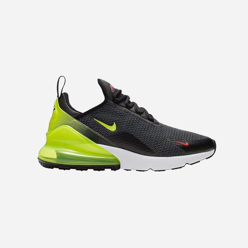Shop the Men's Nike Air Max 270 in Anthracite/Volt/Black/Bright Crimson.