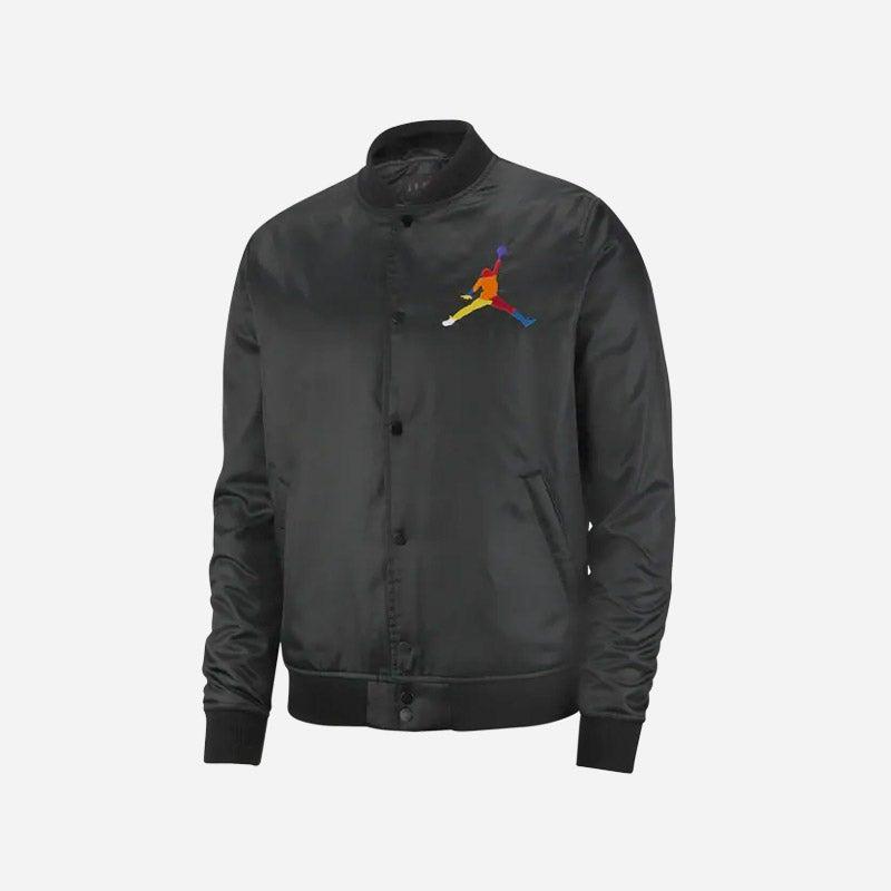 Shop the Men's Jordan Sport DNA HBR Satin Jacket in black.