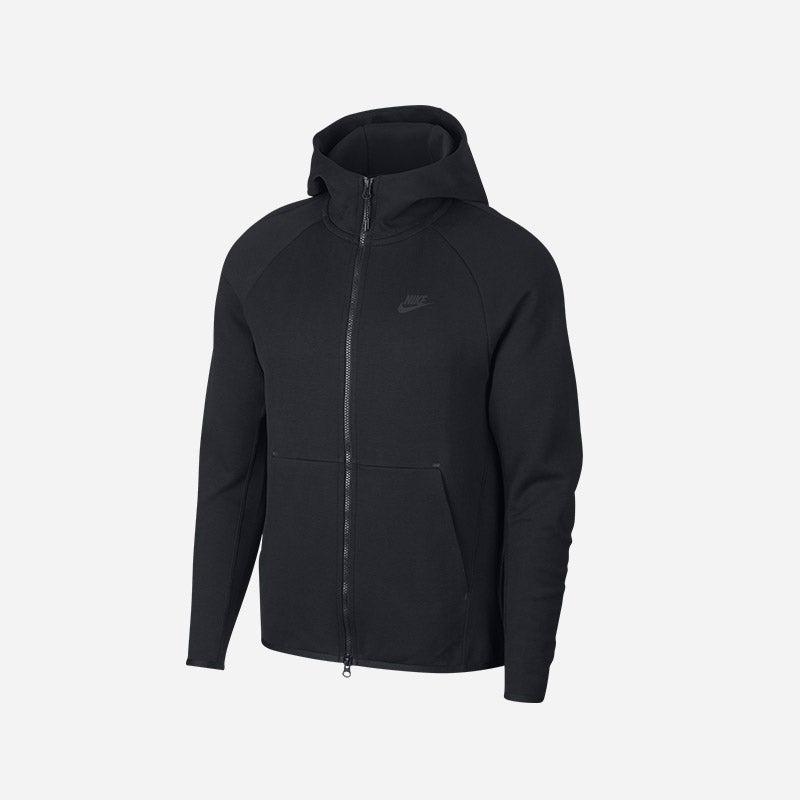Shop the Men's Nike Tech Fleece Full-Zip Hoodie in Black.