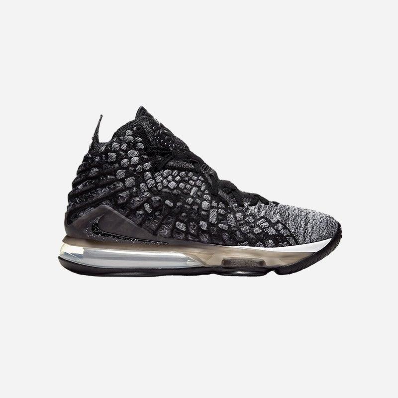 Shop Nike LeBron 17 in Black/White.