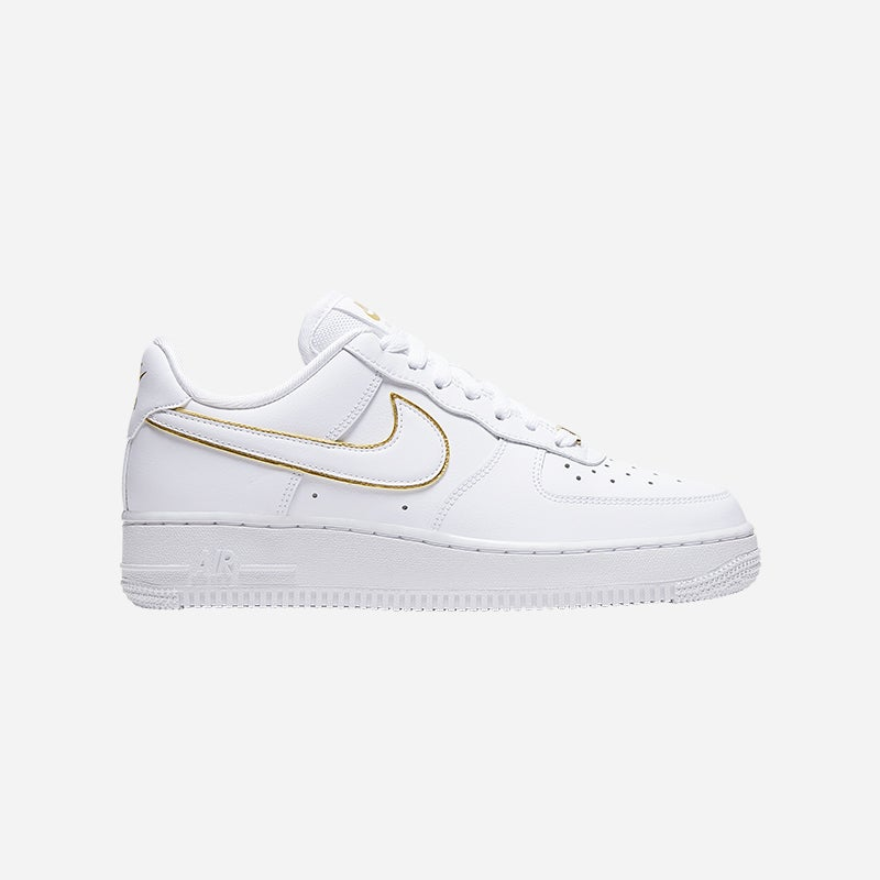 Shop the Women's Nike Air Force 1 '07 Low in White/Metallic Gold.