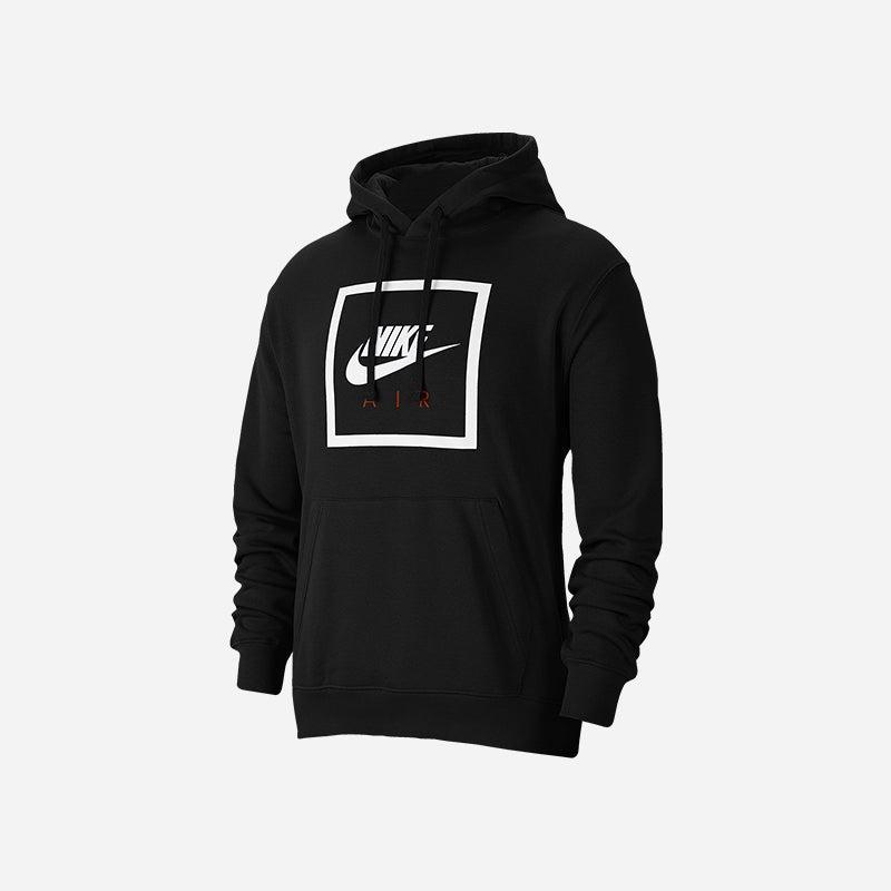 Shop the Men's Nike Air Box Pullover Hoodie in Black.