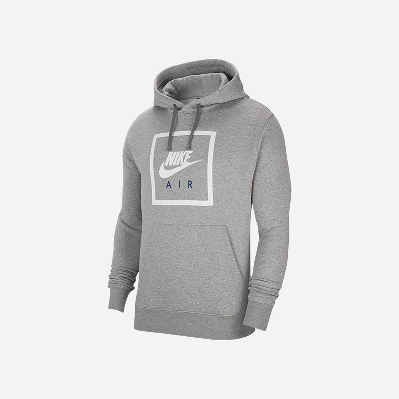 Shop the Men's Nike Air Box Pullover Hoodie in Grey.