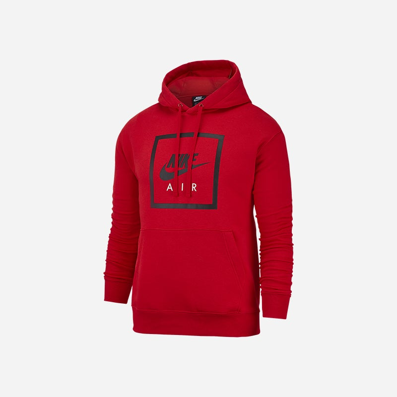 Shop the Men's Nike Air Box Pullover Hoodie in University Red.