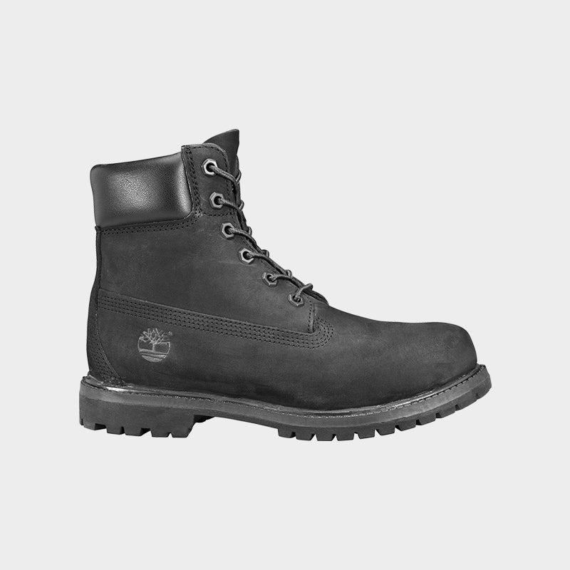 """Shop the Women's Timberland 6"""" Premium Waterproof Boots in Black/Nubuck"""