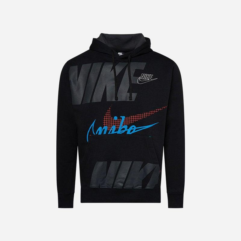 Shop the Men's Nike Evolution Of The Swoosh Hoodie in Black/Multi.