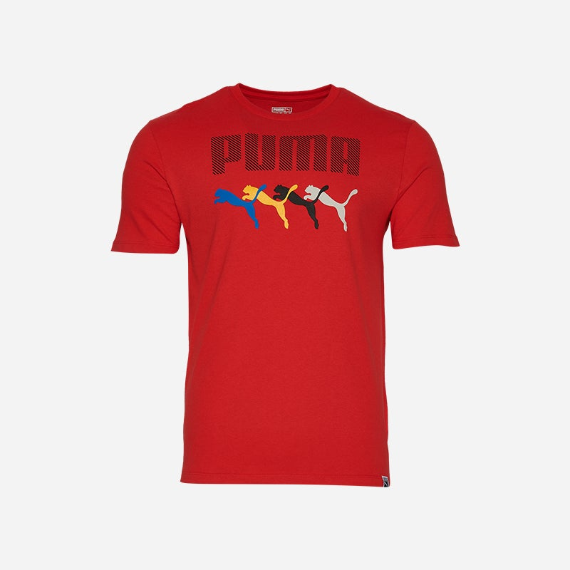 Shop the Men's PUMA Bold T-Shirt in Red/Multi.