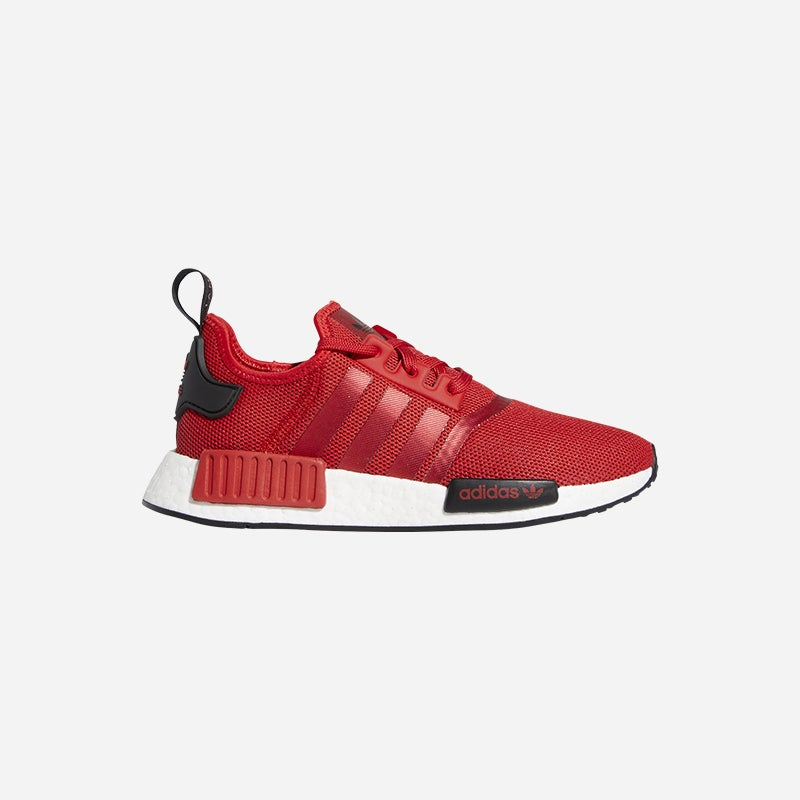 Shop the Women's adidas Originals NMD R1 in Red/Black/White.