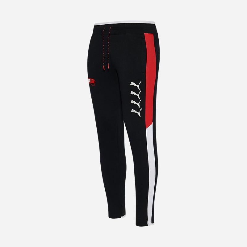 Shop the Men's PUMA Hacked Fleece Pants in Black/Red.