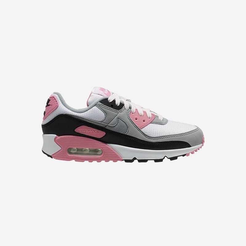 Shop the Women's Nike Air Max 90 in White/Particle Grey/Rose.
