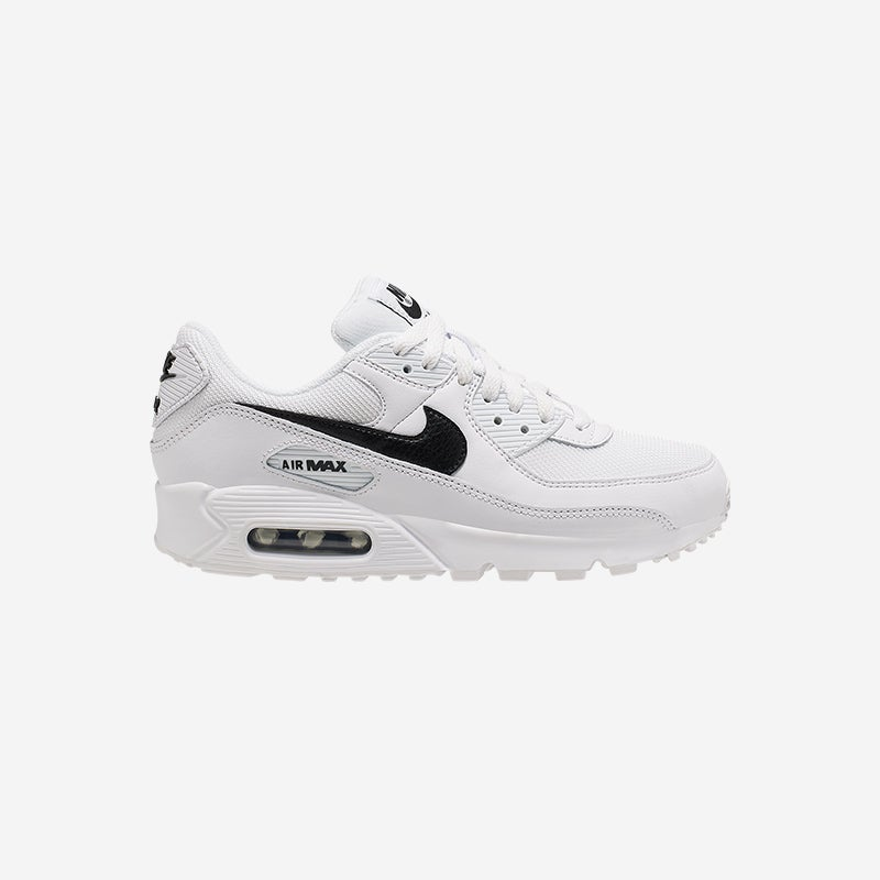 Shop the Women's Nike Air Max 90 in White/White/Black