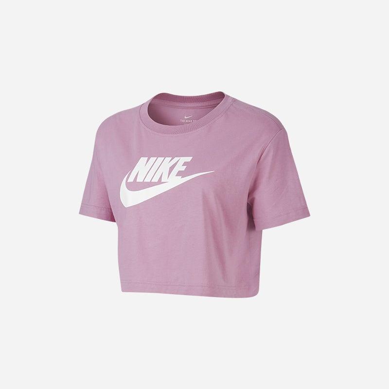 Shop the Women's Nike Essential Crop T-Shirt in Magic Flamingo/White