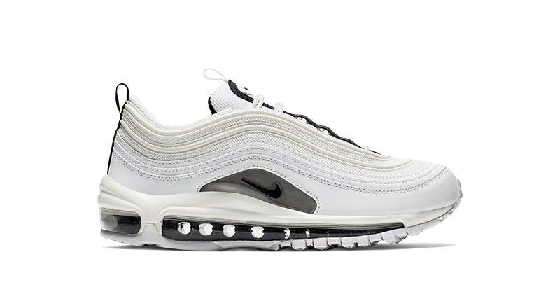 Shop the Women's Nike Air Max 97 in white/black.