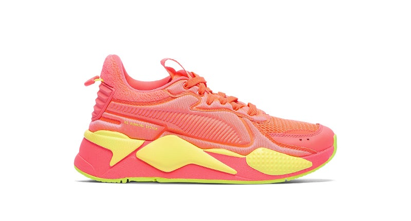 Shop the PUMA RS-X Bold 'Soft Cases' in Pink Alert/Yellow Alert.