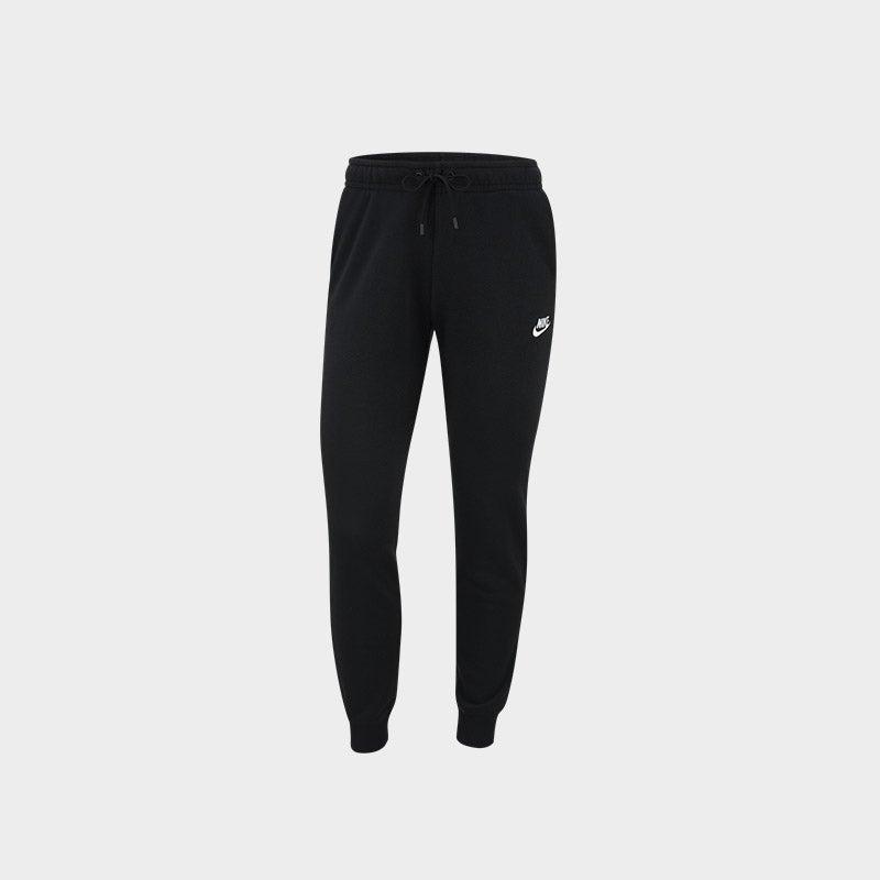 Shop the Women's Nike Essential Fleece Jogger in black/white.