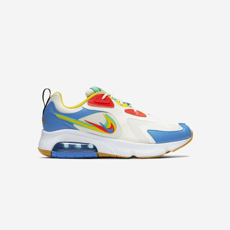 Shop the Women's Nike Air Max 200 in Pale Ivory/Bright Crimson/Chrome Yellow.