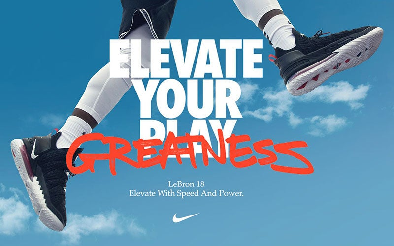 ELEVATE YOUR GREATNESS. Lebron 18. Elevate with speed and power.