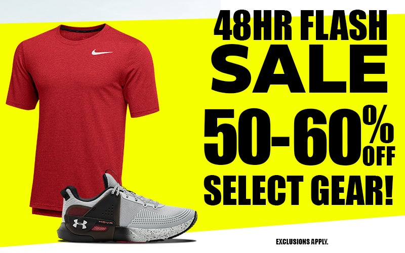 48-HOUR FLASH SALE! 50-60% off Select Gear. EXCLUSIONS APPLY