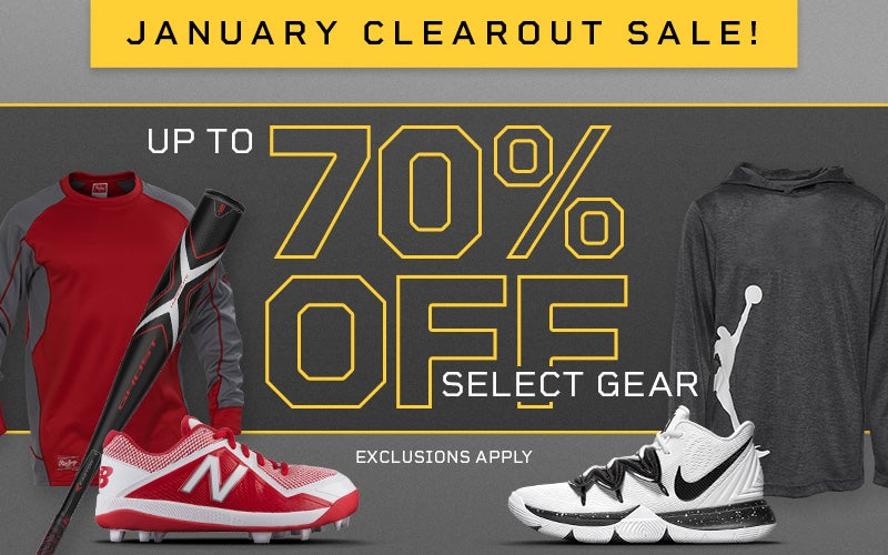 JANUARY CLEAROUT SALE! Up to 70% off select gear. EXCLUSIONS APPLY