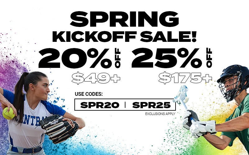 SPRING KICKOFF SALE! 20% off $49+ & 25% off $175+ Use codes: SPR20 & SPR25 EXCLUSIONS APPLY
