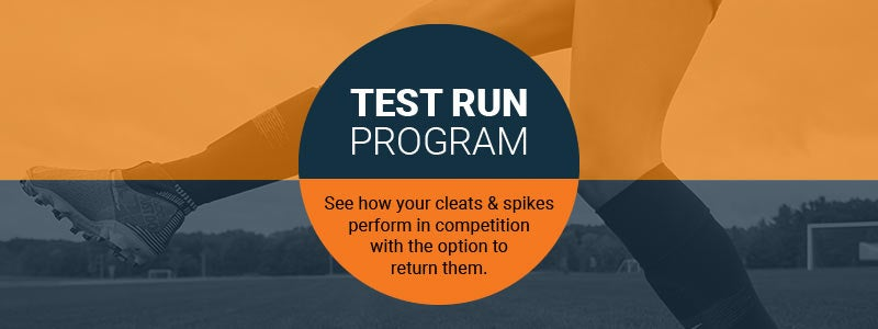 Eastbay Test Run Program - See how your cleats & spikes perform in competition with the option to return them.